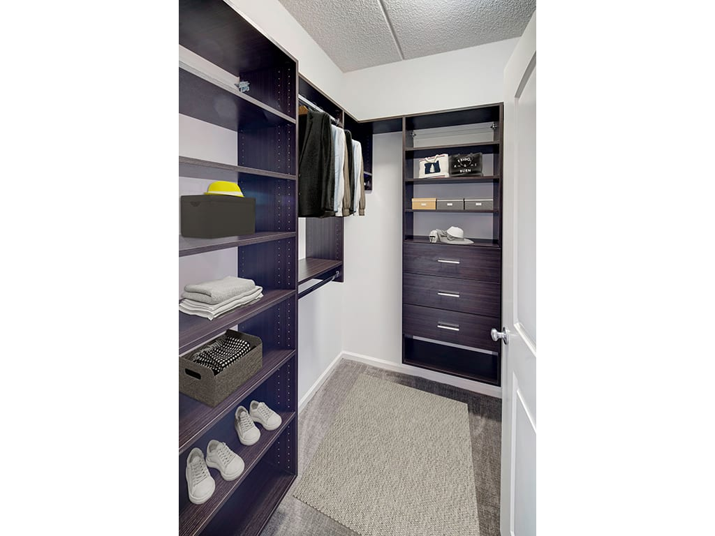 Custom Cabinetry in Closet